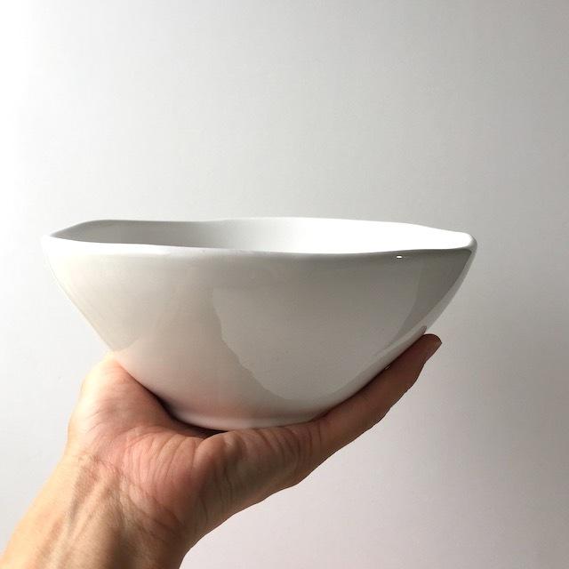 デンマーク rice 陶器 シリアルボウル L・ホワイト
