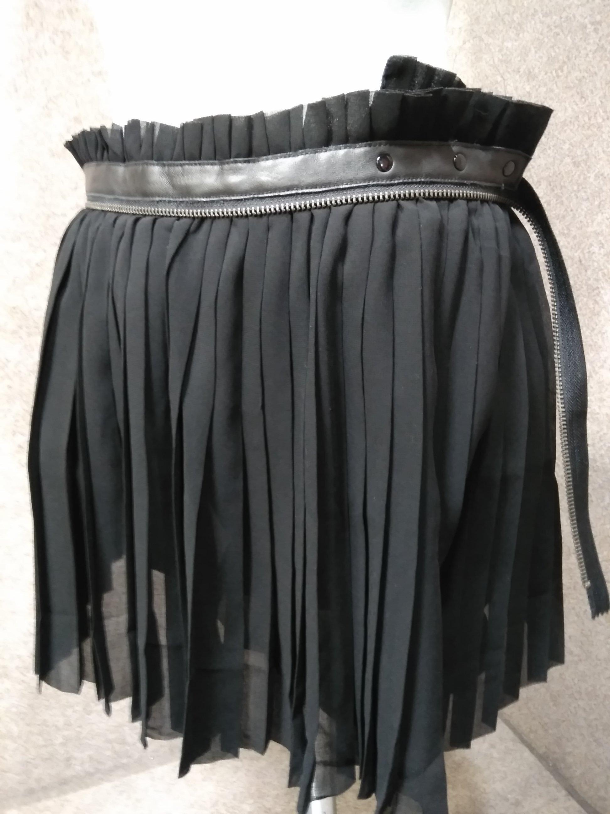 ディーゼル DIESEL ペチパンツ付き ラップスカート XS 黒 mu911e