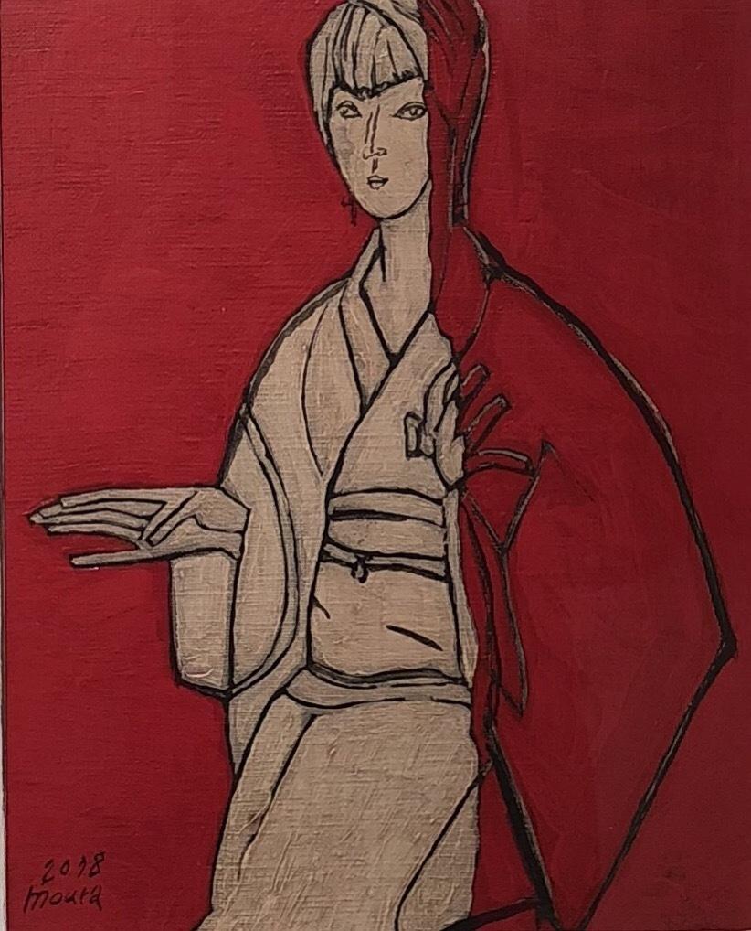 ムラカズユキ「カフェの女(京橋)」