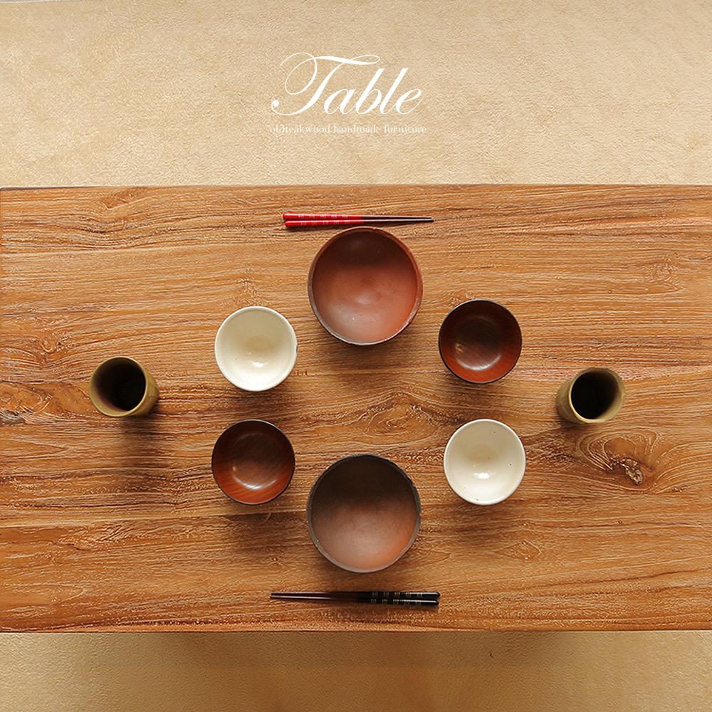 ●送料無料●ナチュラルな質感が素敵!無垢チーク材のローテーブル L 100x60
