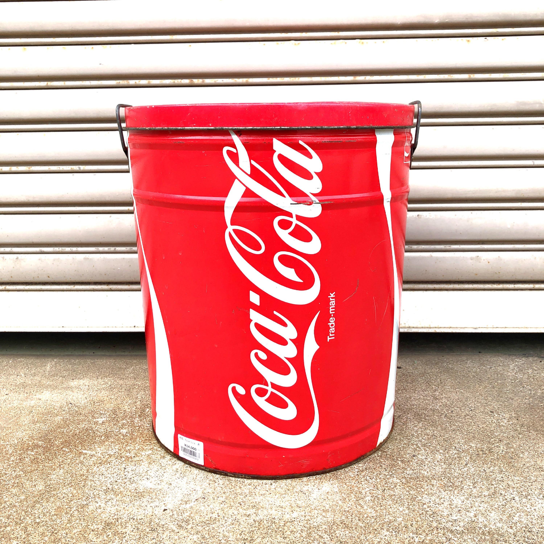 品番4163  コカ・コーラ Coca Cola  缶 1983年頃 ブリキ缶 ティン缶 レッド ヴィンテージ 011