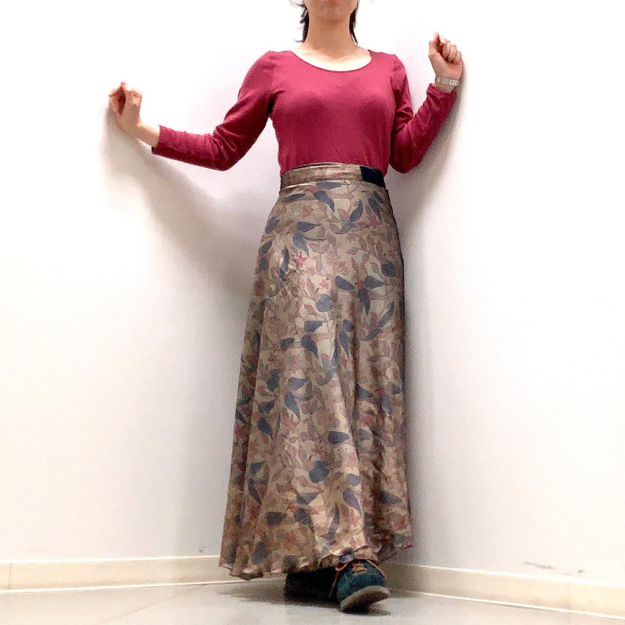 vdsl-007 ビンテージシルクサリー 巻きスカート【ラーマーヤナ】