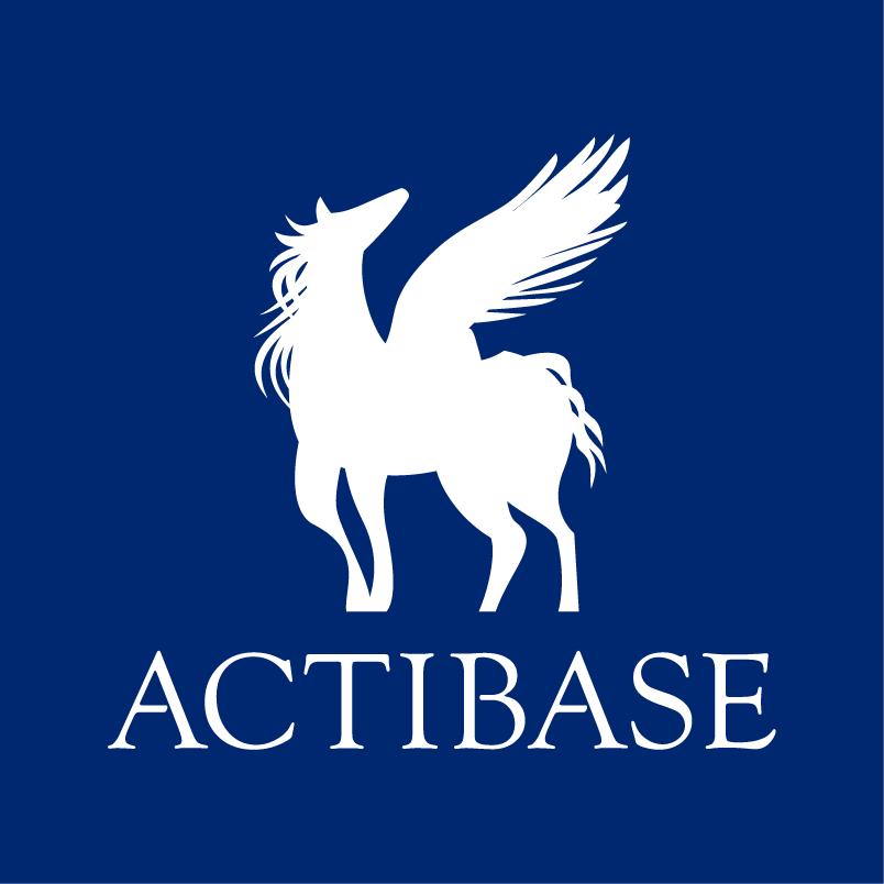 ACTIBASEステッカー8x8【紺・黒】