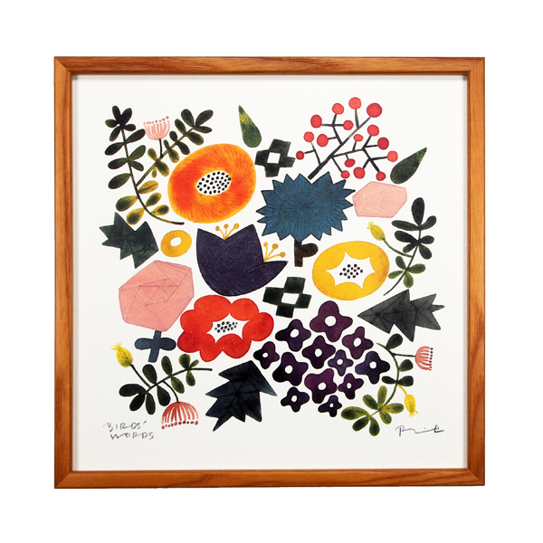 BIRDS' WORDS Poster 30 Flower 額装タイプ