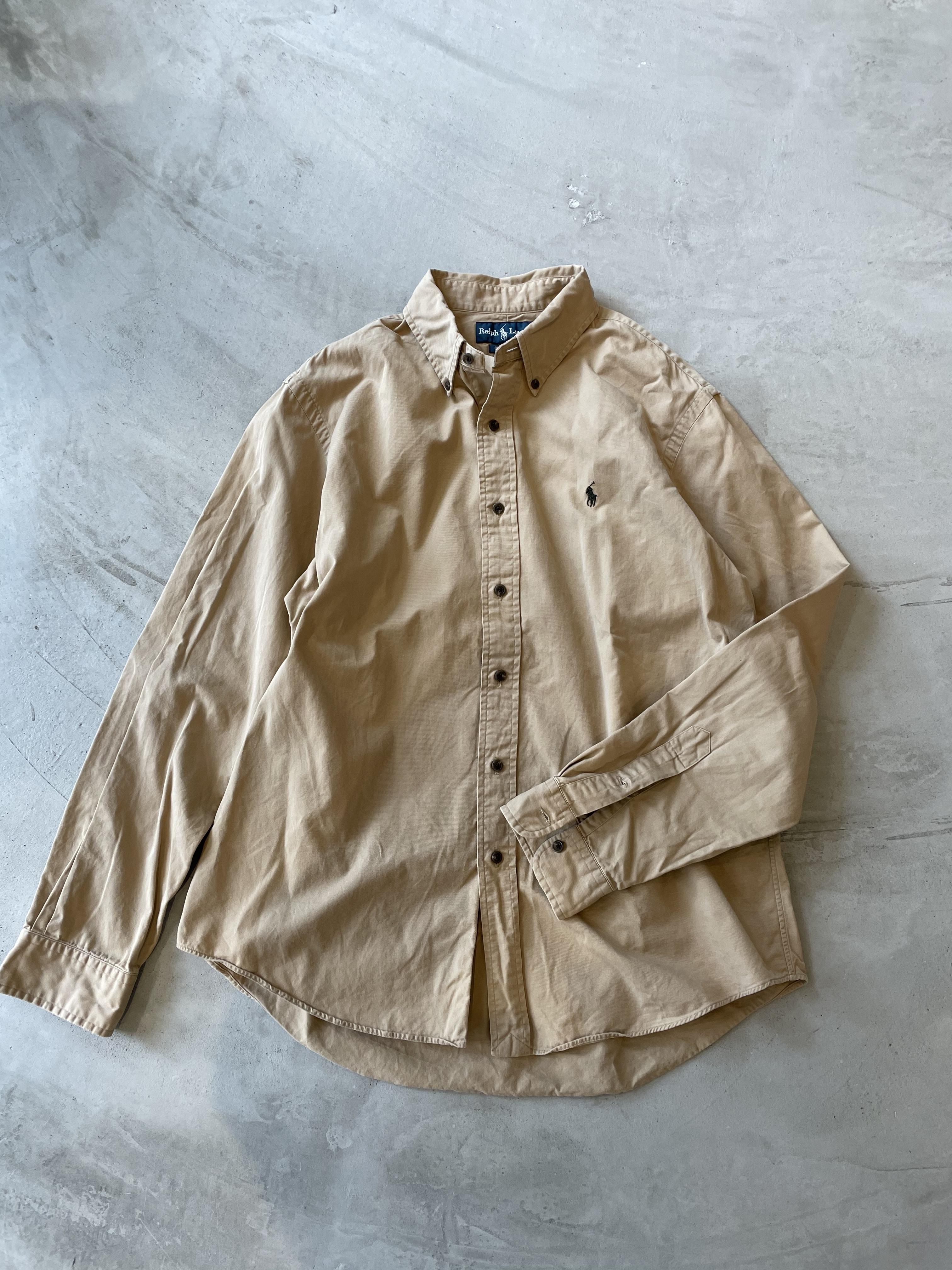old ralph lauren big shirt beige