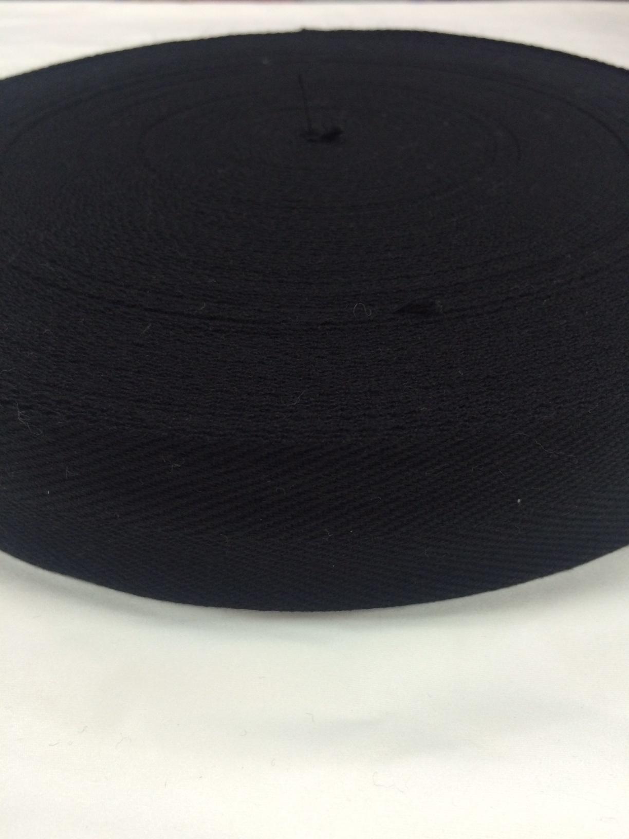 アクリルテープ 杉綾織(綾テープ)黒/生成 30mm幅 1㎜厚 1m