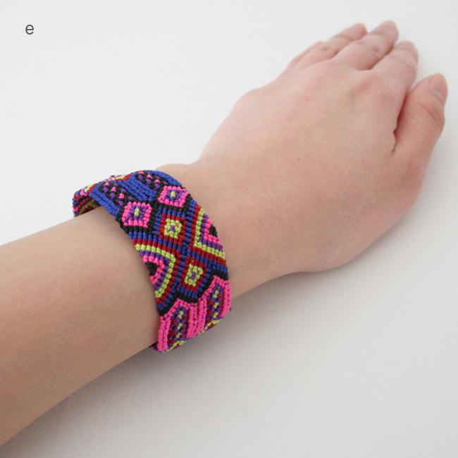 メキシコの手編みブレスレット/A11_e~g/MEXICO