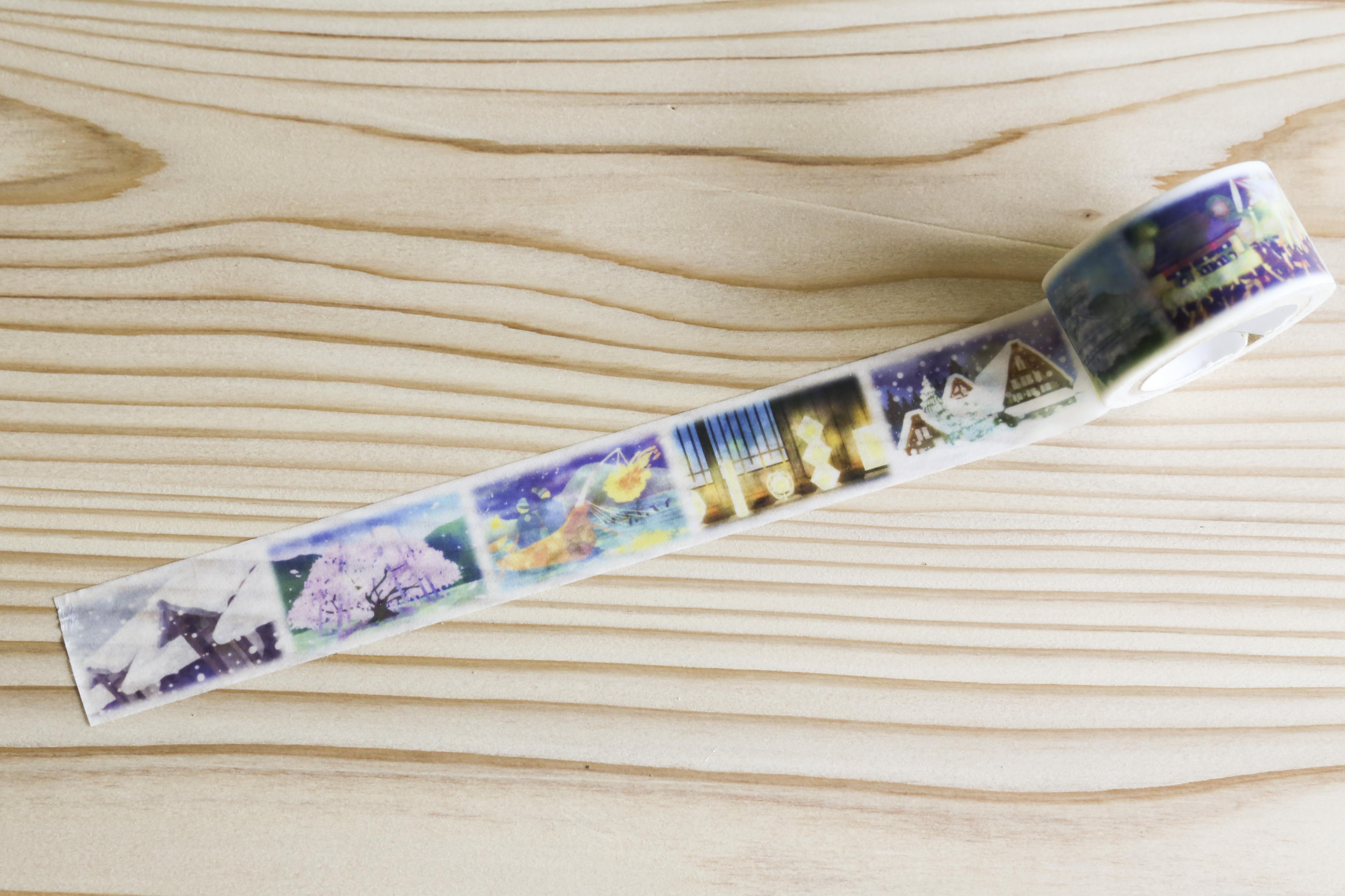 美濃和紙マステ|岐阜の四季