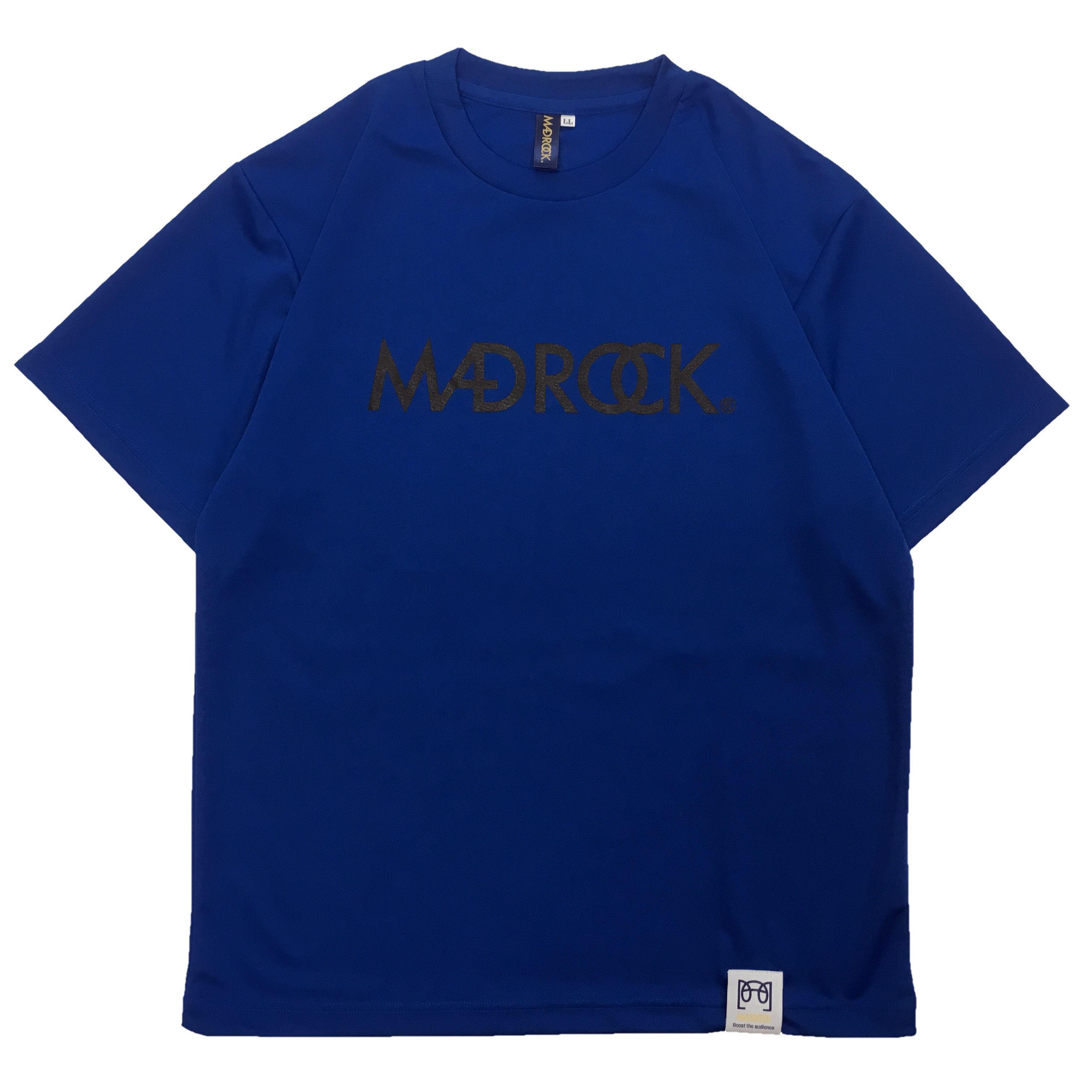 マッドロックロゴ Tシャツ/ドライタイプ/ブルー&ブラック