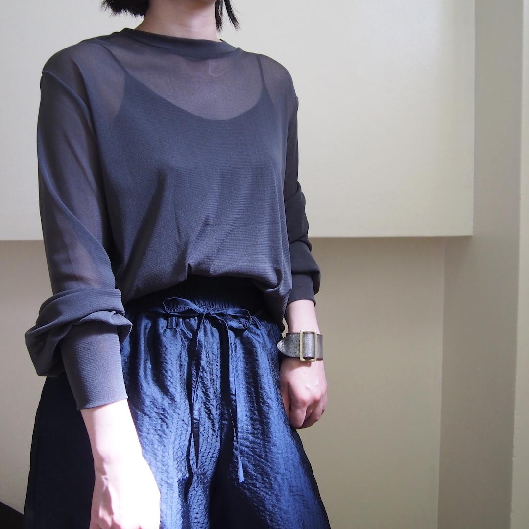 【hippiness】tulle long sleeve(black) /【ヒッピネス】チュール ロングスリーブ(ブラック)