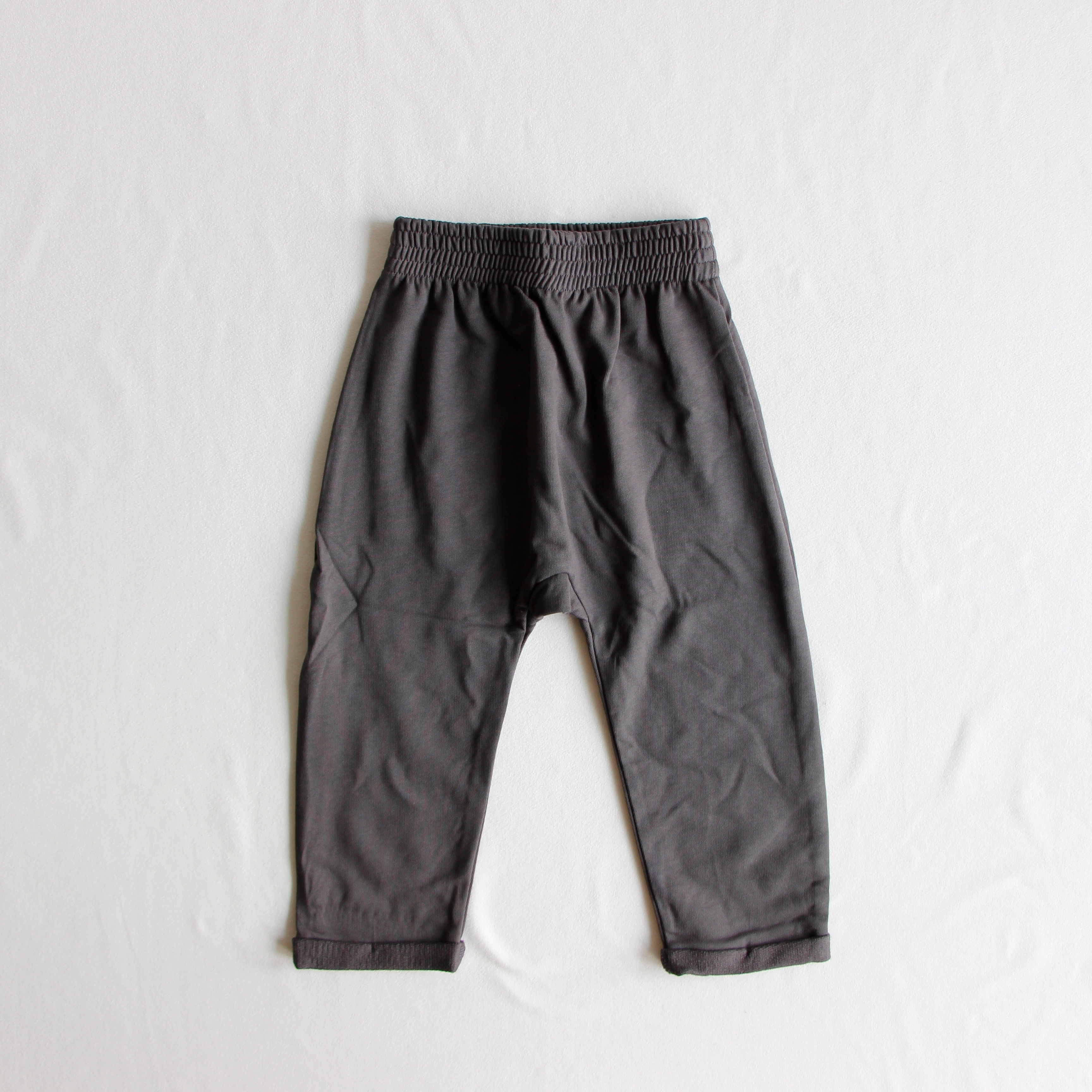《main story》BAGGY SWEAT PANT / washed black