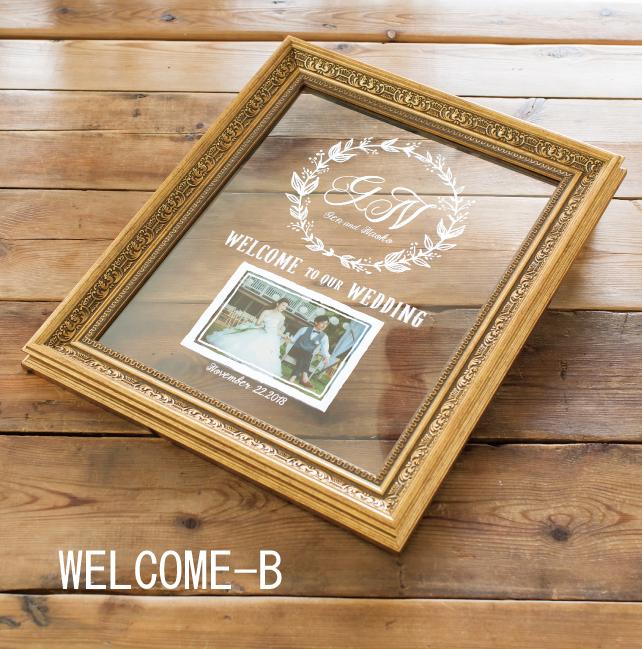 ウェディング ウェルカムボード Grace WELCOME-【B】 【送料無料】 写真・結婚式・祝い・フォトフレーム・おしゃれ・文字・オーダーメイド