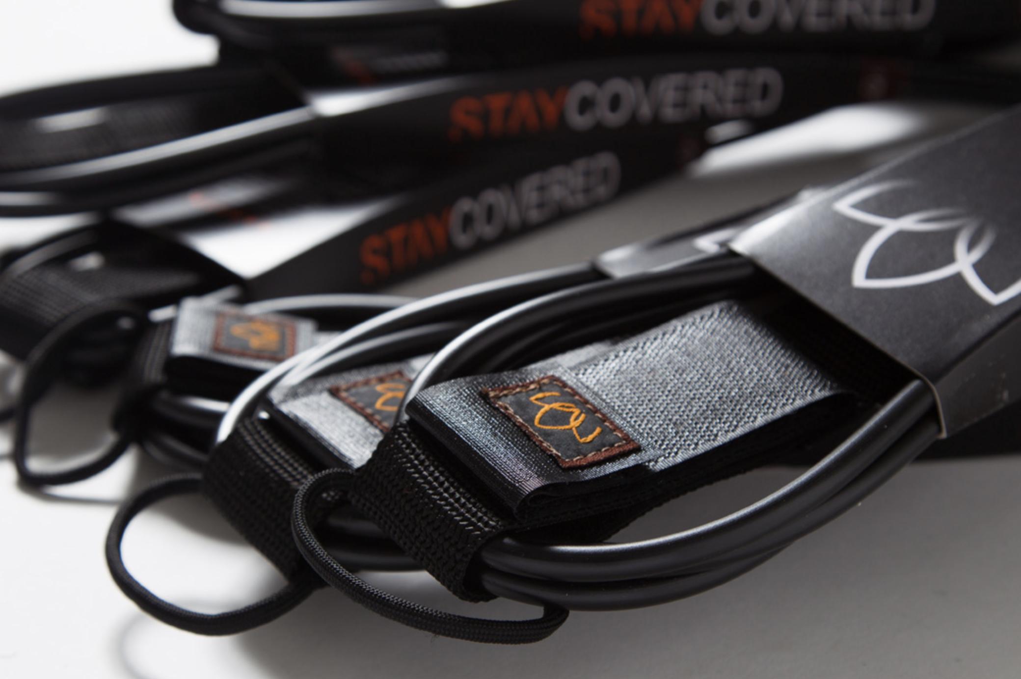 [STAY COVERED] リーシュ 7ft STANDARD mat black