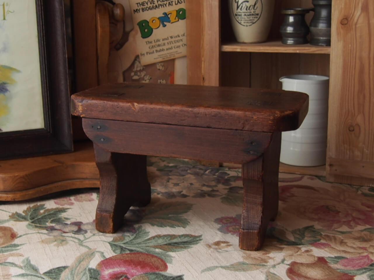 イギリスアンティーク 木製スツール