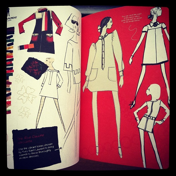 ファッションの本「Yves Saint Laurent Rive Gauche Colouring Book」 - 画像2