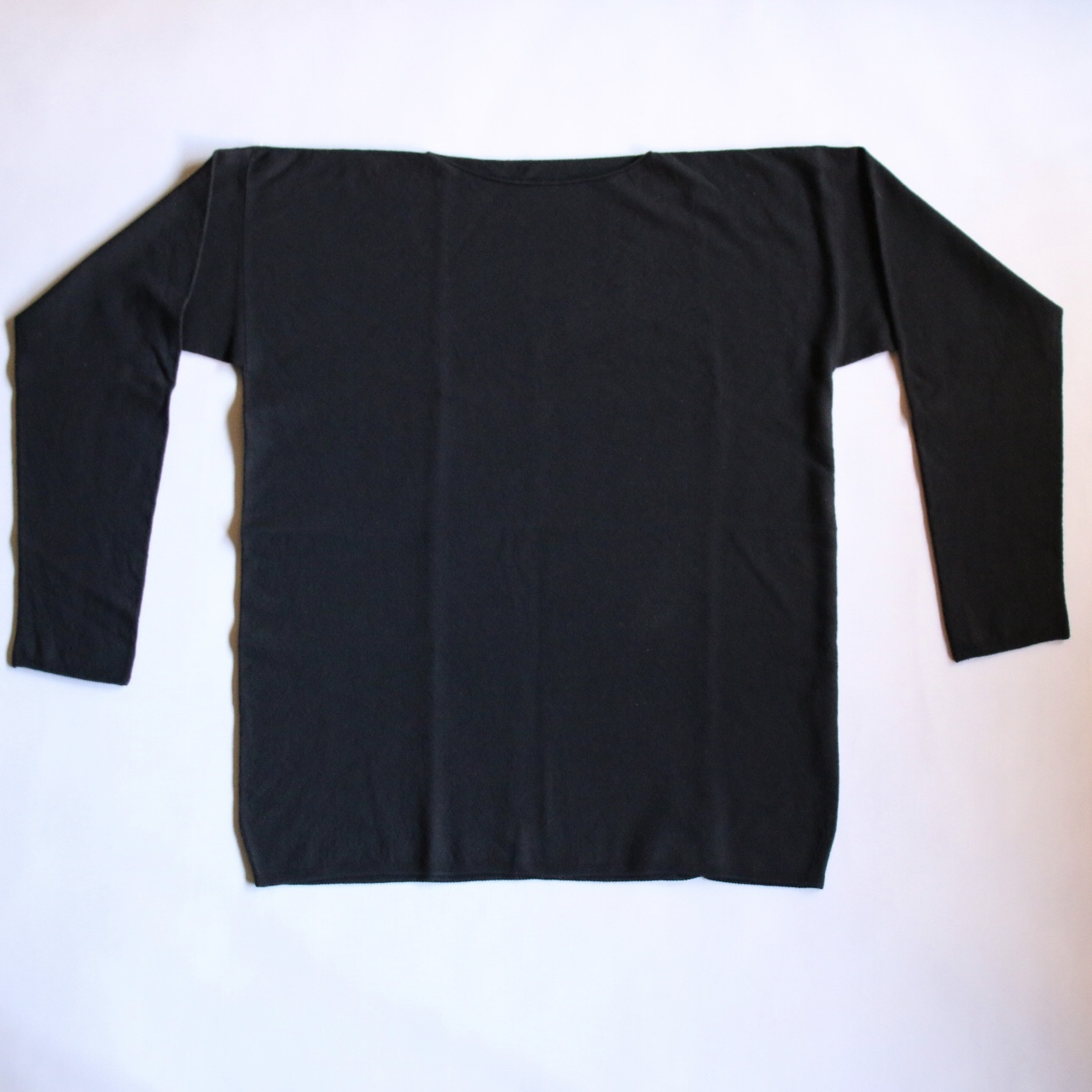 MITTAN KN-06 強撚ウールニット長袖 黒
