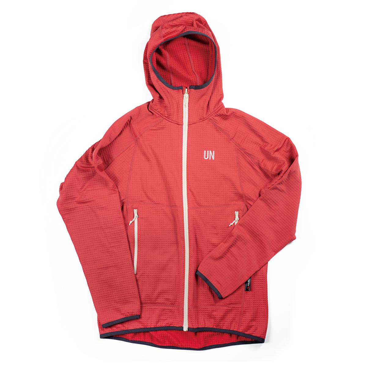 UN2100 Light weight fleece hoody / Red