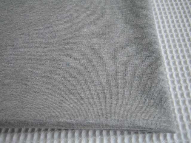 J&B定番 綿コーマ糸40双糸天竺ニット 杢グレー #90 NTM-1375