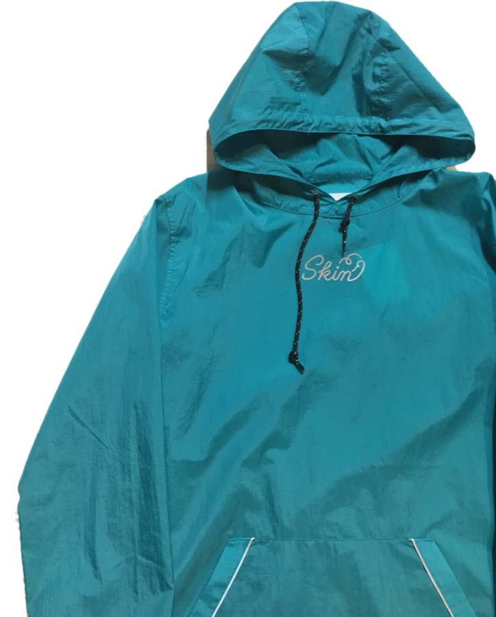 SKIN / nylon hoodie(blue) - 画像2