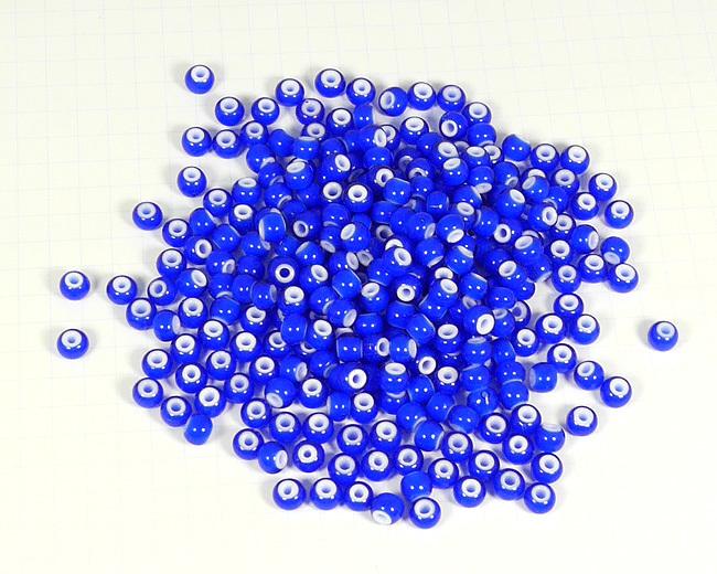 ホワイトハーツビーズ 青色 丸5mm H2736WH15102
