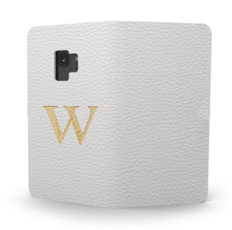 Galaxy Premium Shrink Leather Case (Milk White) : Book cover Type