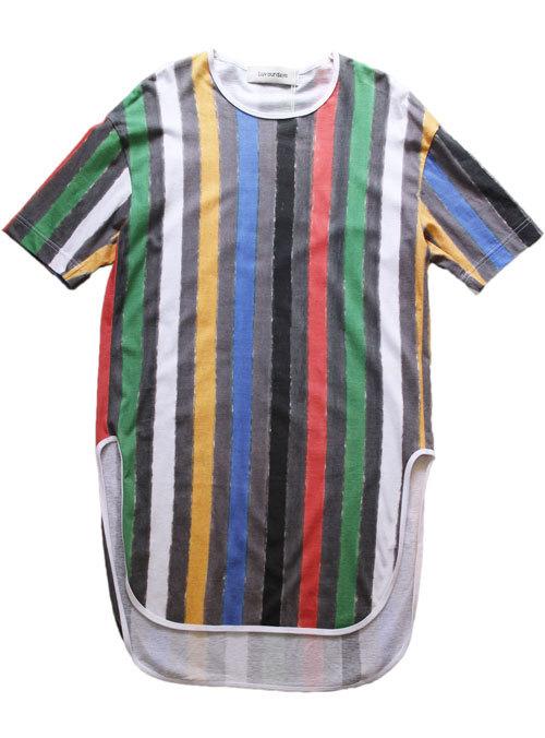 Tシャツ  LUV OUR DAYS ラブアワデイズ LV-CT8159    STRIPED  ストライプロングTシャツ