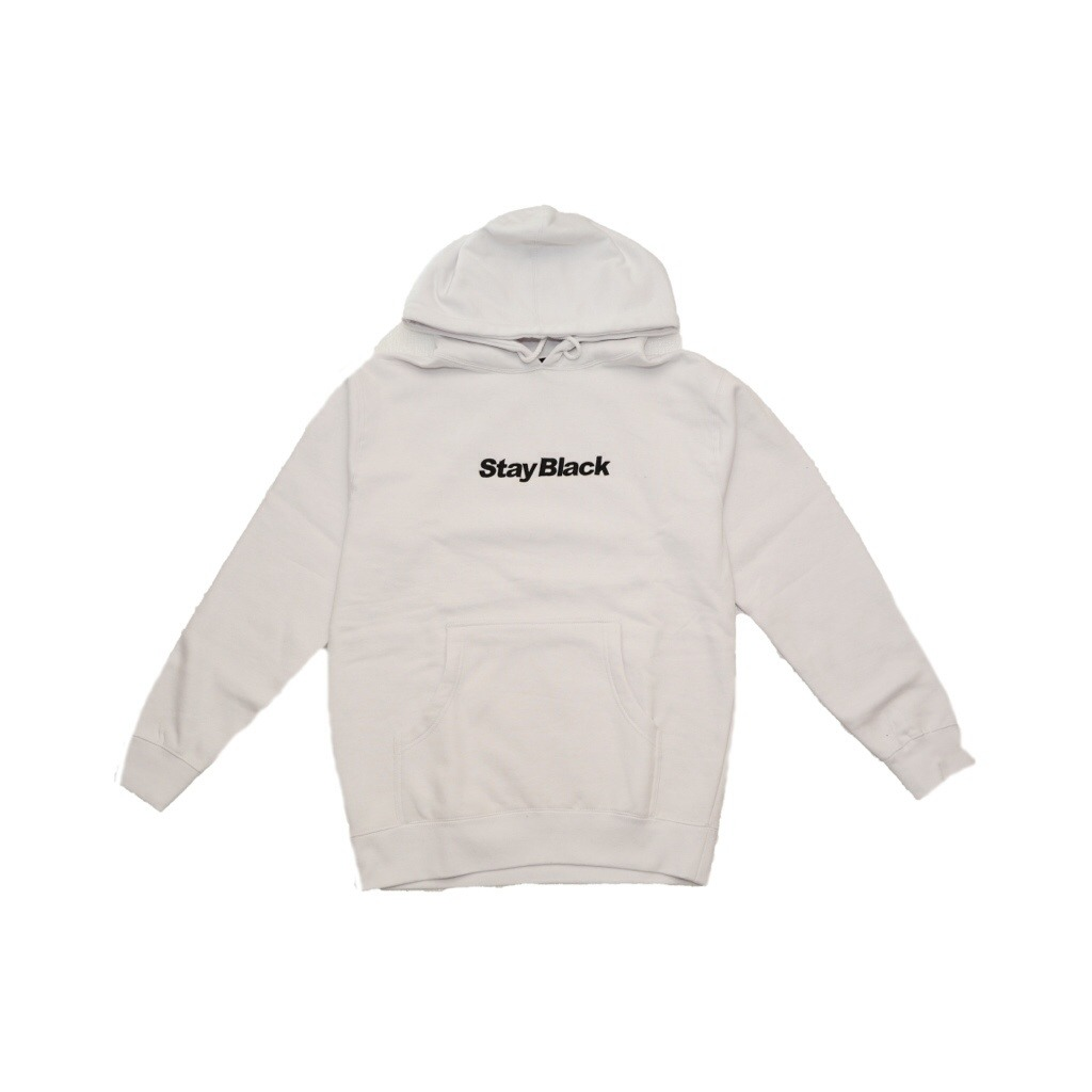 Stay Black Original Logo Hoody - White