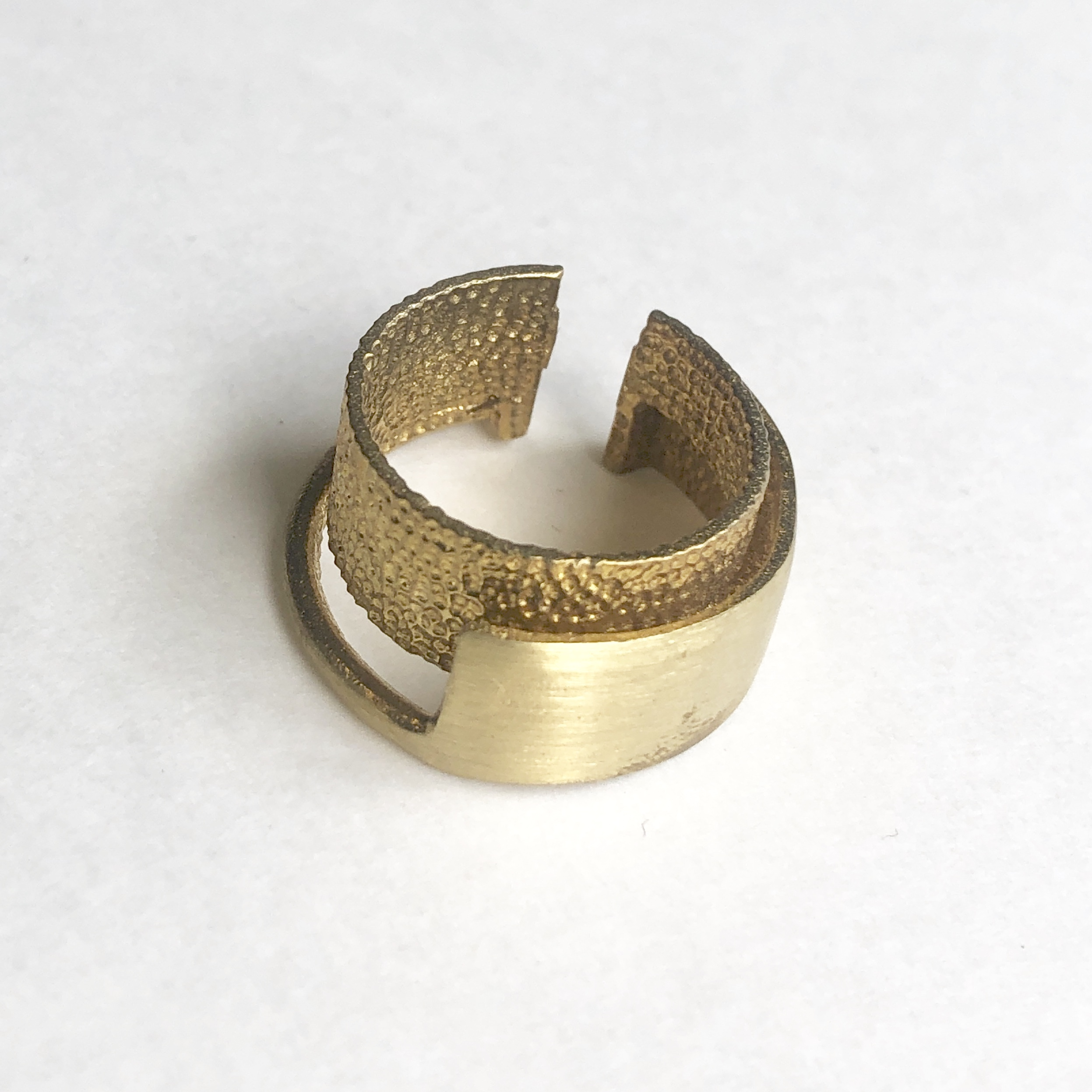 Raw brass Rings -  wLayerリング  RG-024