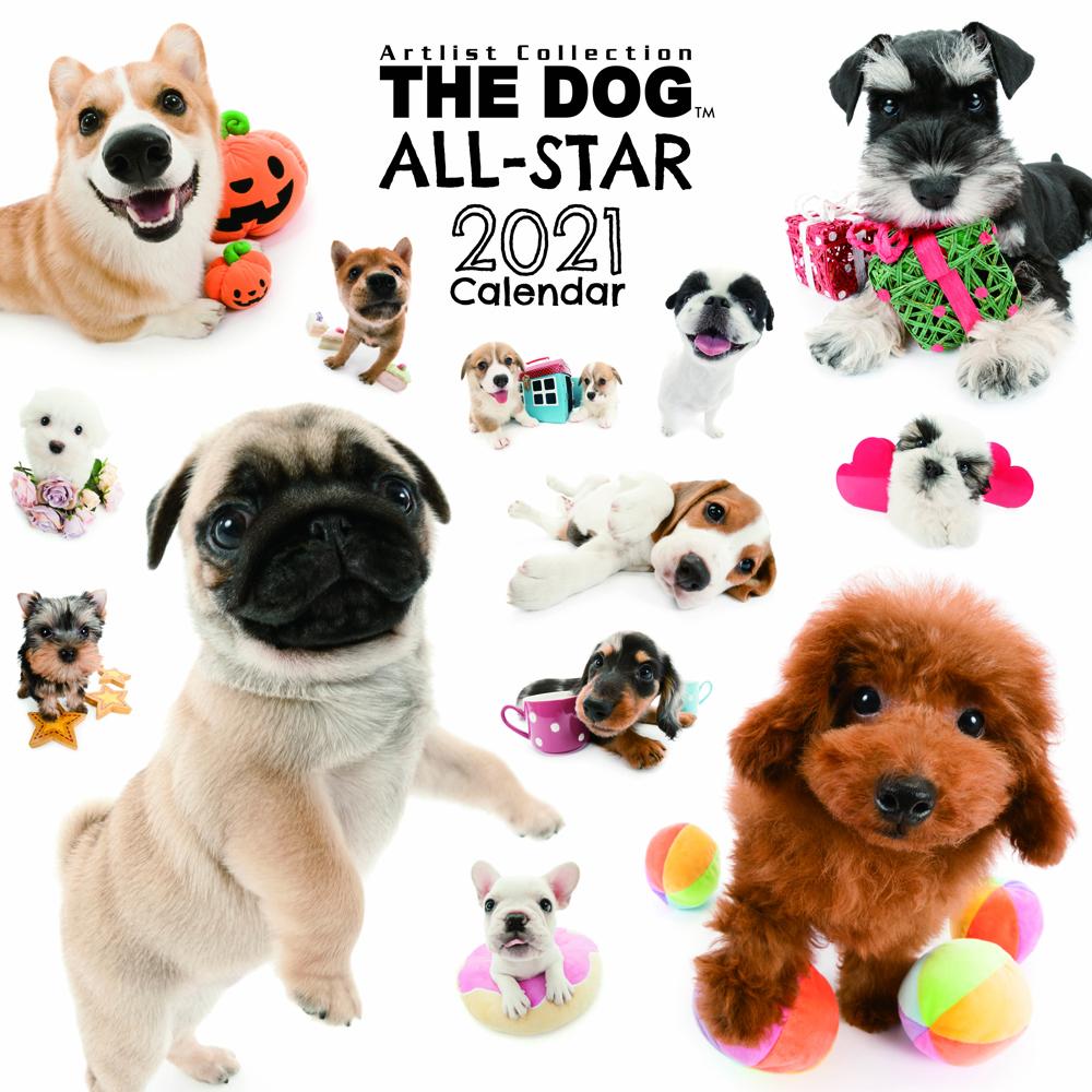 2021年 THE DOG/THE CATオールスターカレンダー【大判サイズ】THE DOG ALL-STAR