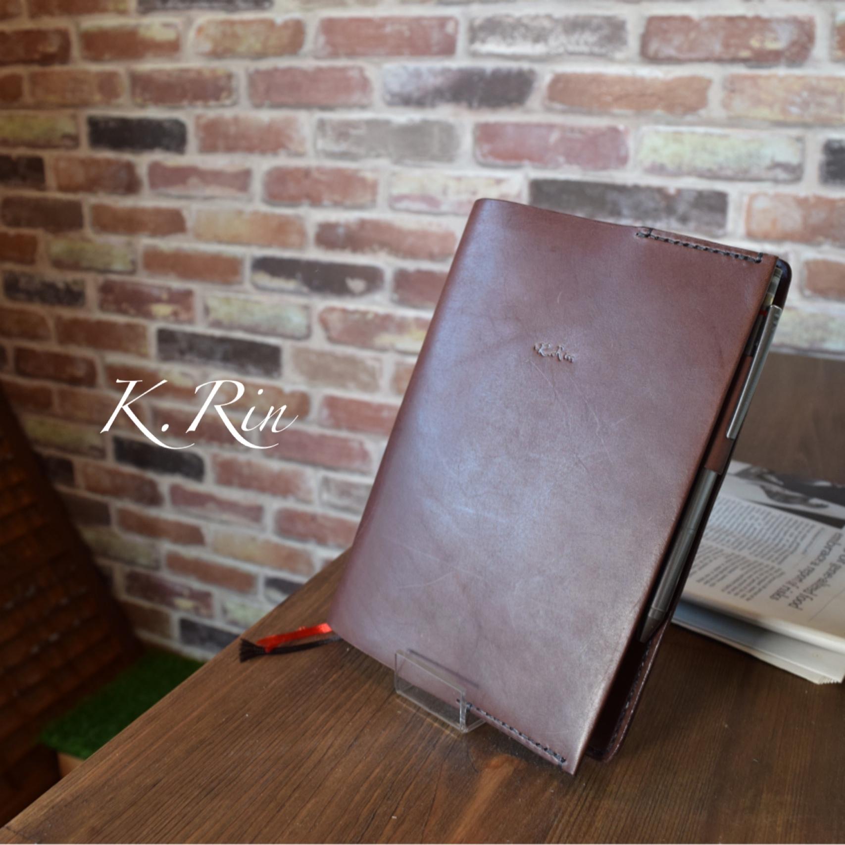 【受注制作】シンプル手帳カバー カードポケット付き!  (KA069c2)