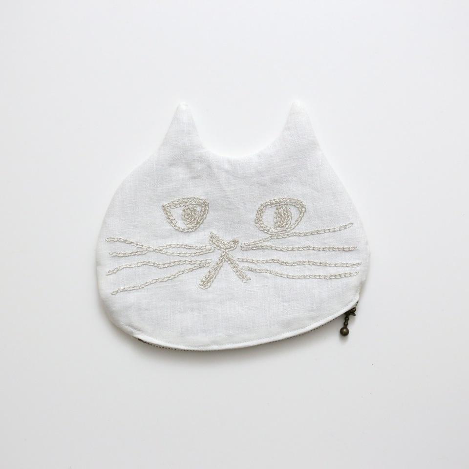 ネコポーチ(白猫)
