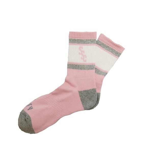 SURF SKATE CAMP #SSC Sports Socks Pink