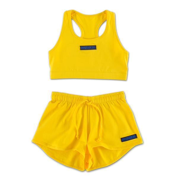 UNFOLLOW ME YELLOW SPORTS SET