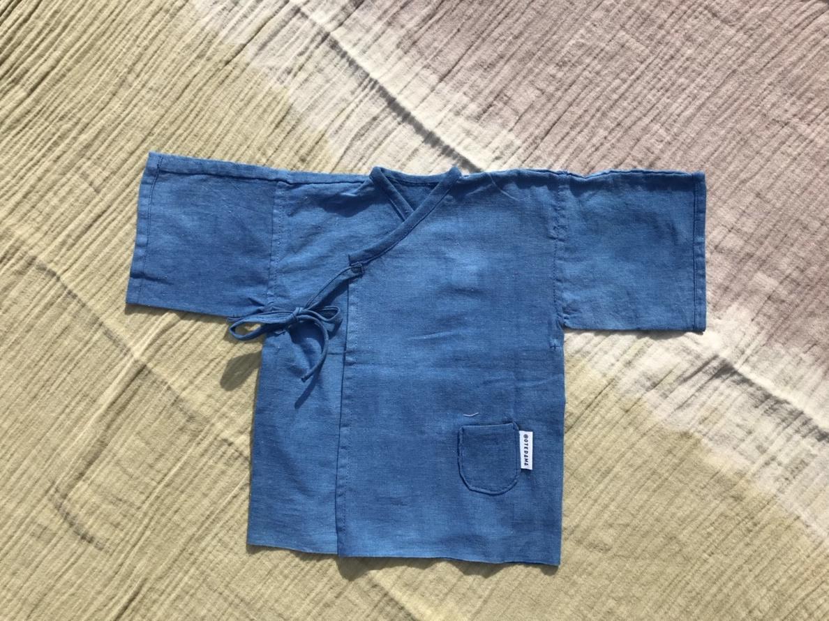 【受注生産】1枚の手ぬぐいから作られる天然藍染めの産着