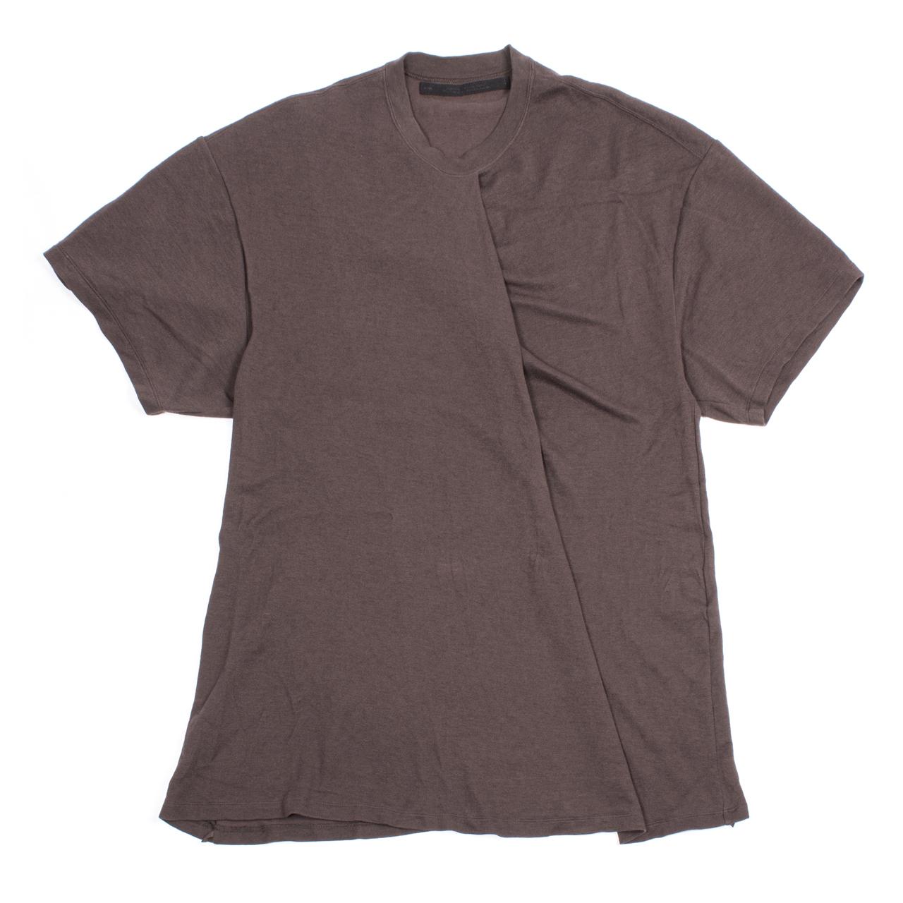 717CUM5-DARK BROWN / タックドカラーTシャツ