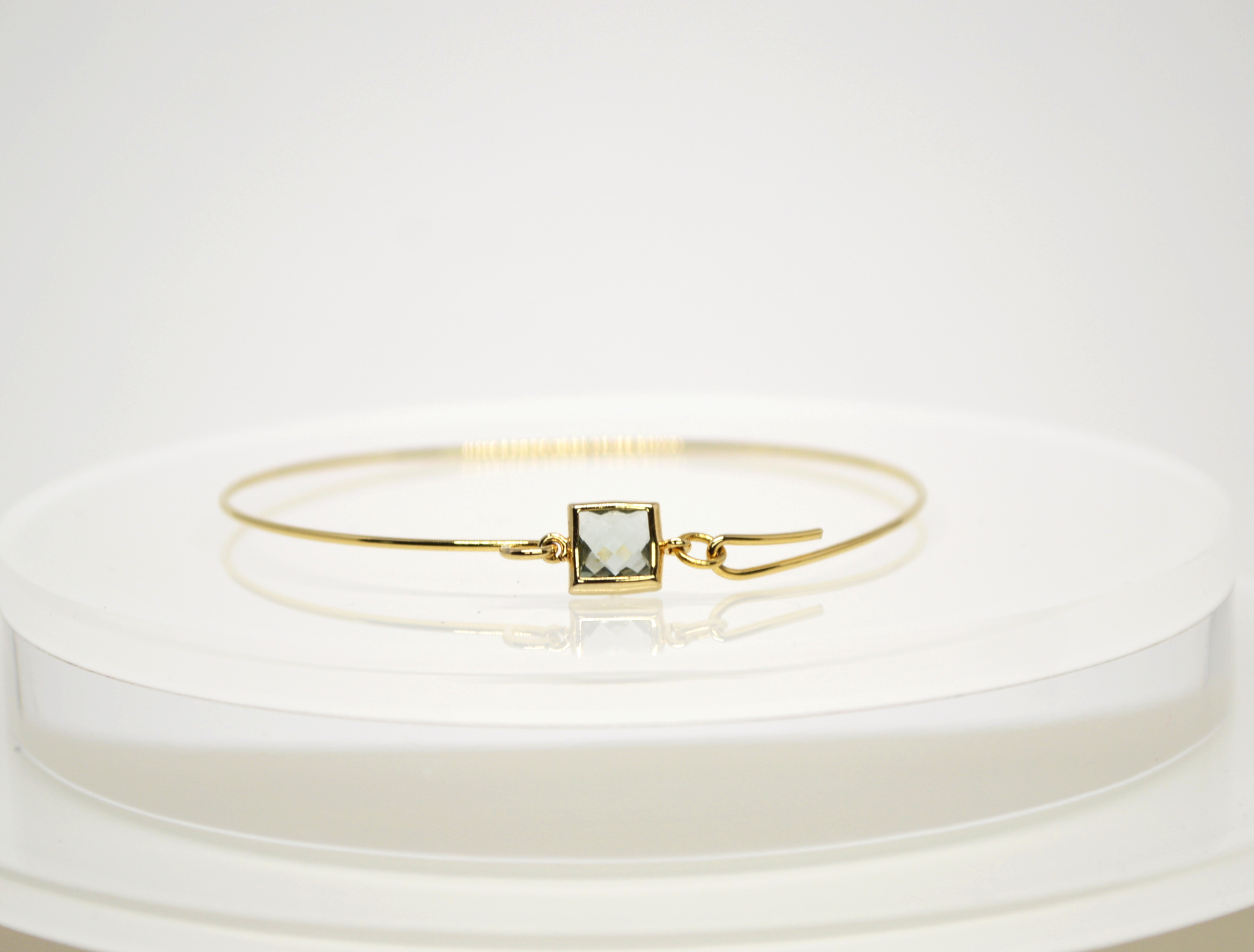 Faceted Square Glass bangle
