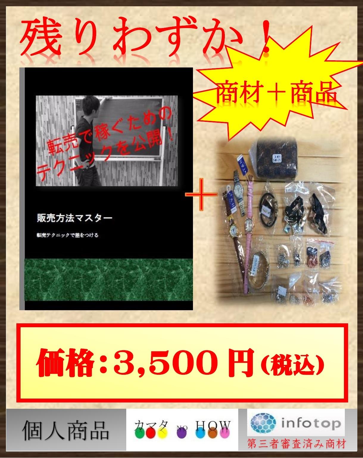 販売方法マスター+「転売用商品(16点)」★残りわずか!★