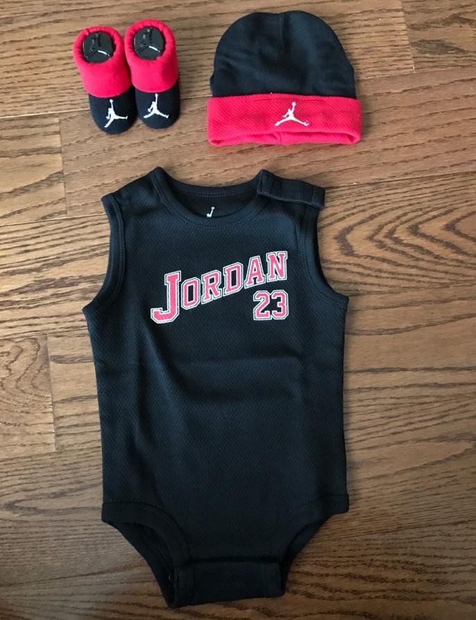 c54bc81ea38bb Nike Air Jordan ベイビー3点 ギフトセット