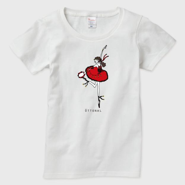 エスメラルダ赤 Tシャツ(レディース) - 画像1