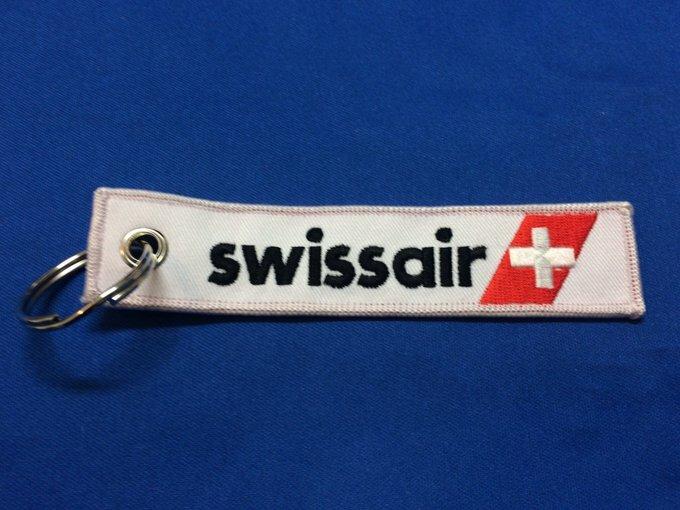 RemoveBeforeFlightキーホルダー/スイス航空