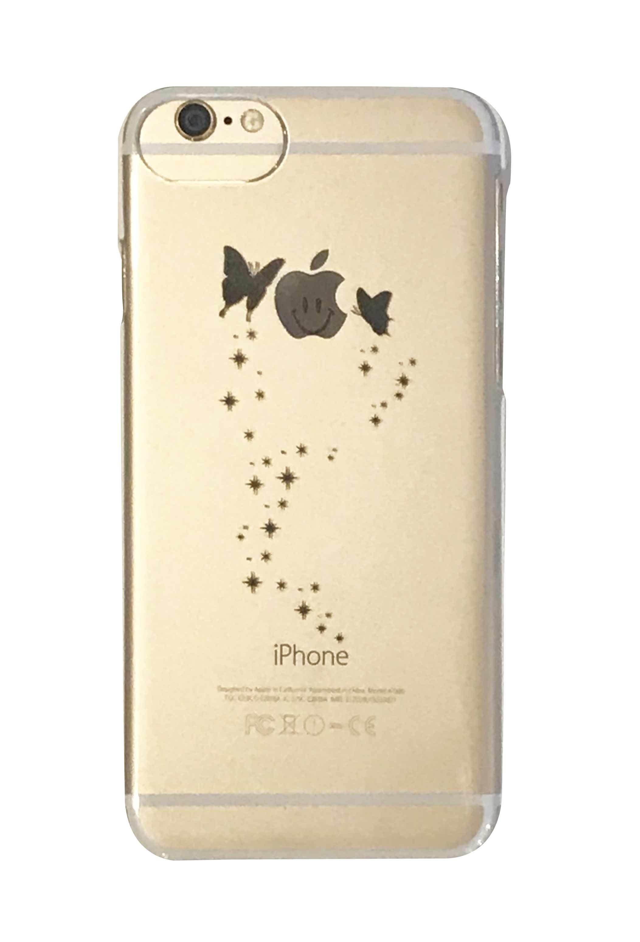 apple butterfly クリアハードケース