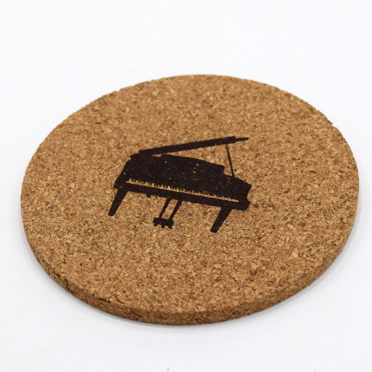 [単品]コルクコースター『ピアノ』 ~発表会記念品として♪~