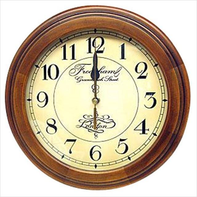 電波時計 天然木 国産 レトロ電波時計 DQL‐711 さんてる - 画像1