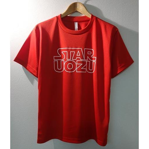 """STAR UOZU """"ドライ"""" Tシャツ レッド×ホワイト"""