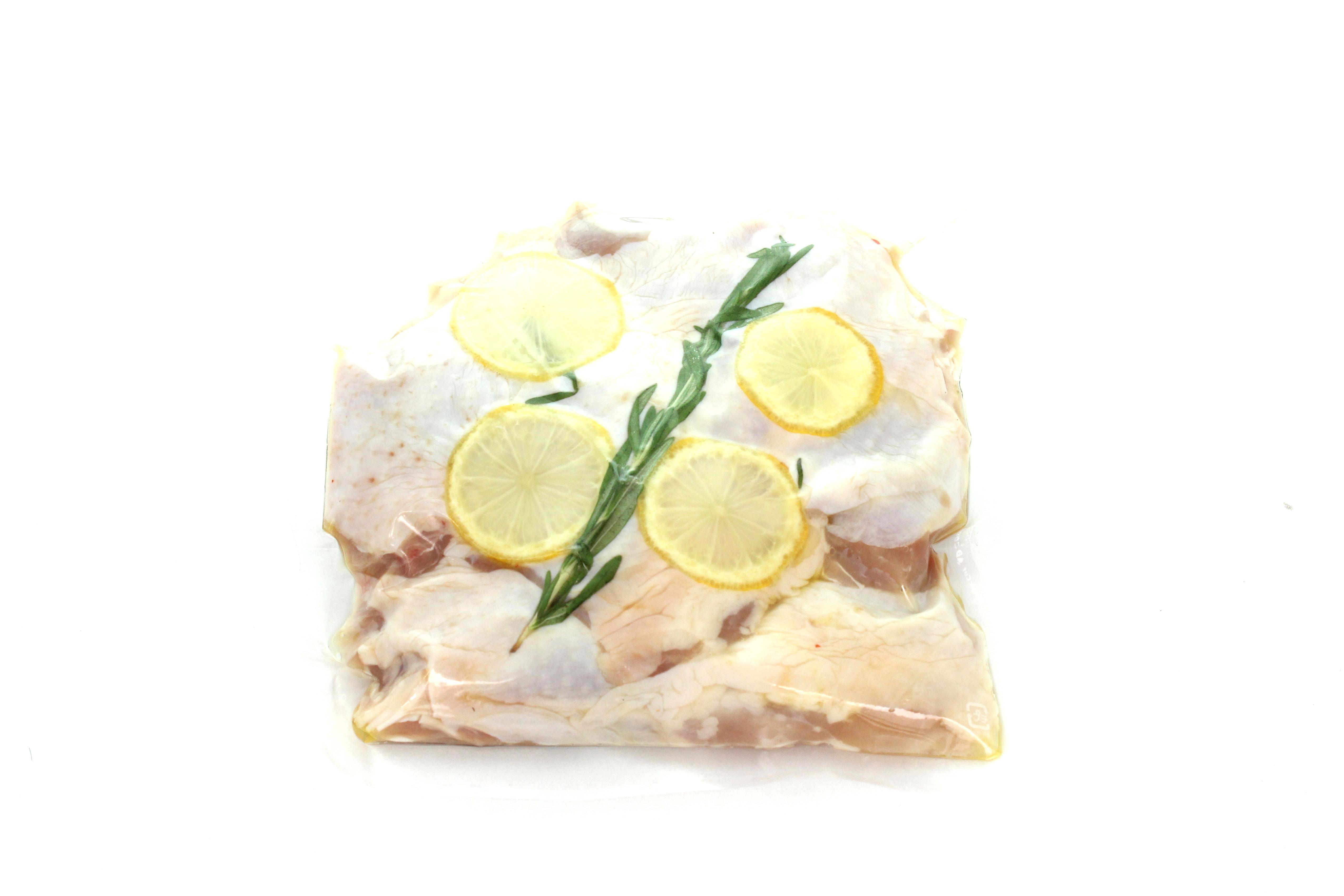 越の鶏もも肉レモン&ハーブマリネ