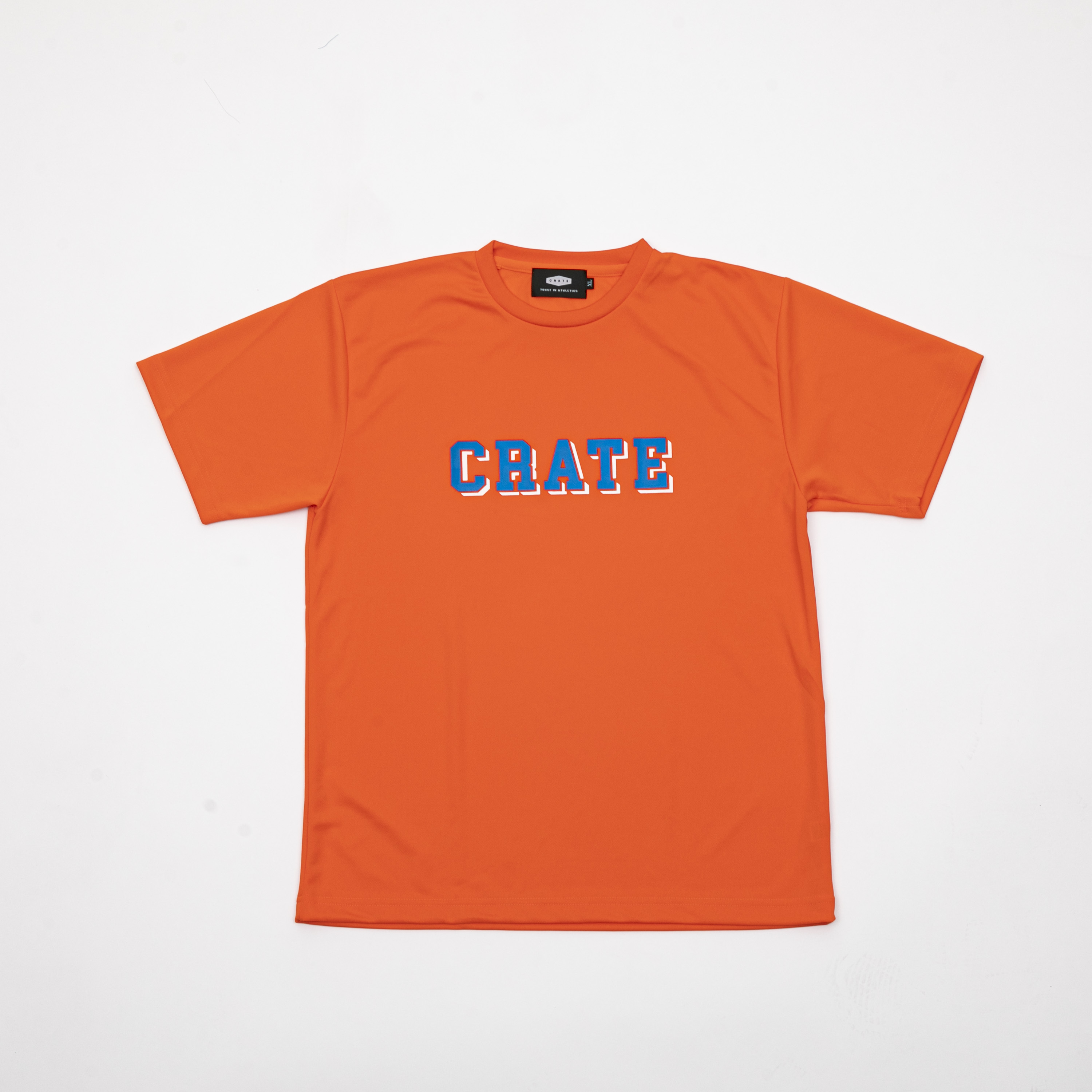 BLOCK LOGO MESH T-SHIRTS ORANGE