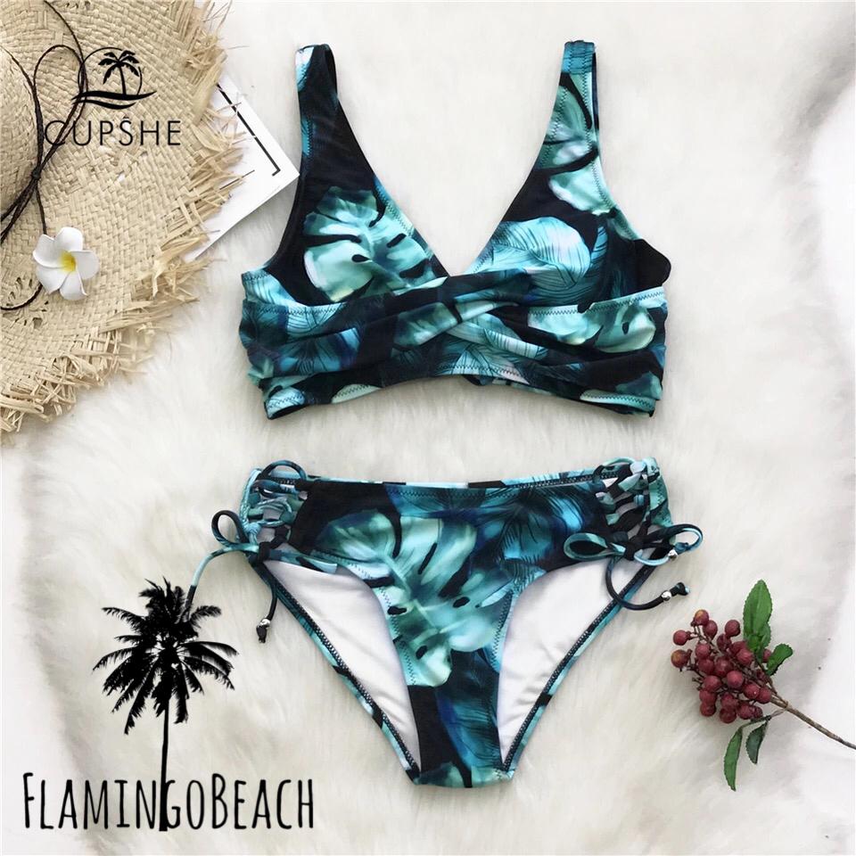 【FlamingoBeach】leaf side up bikini ビキニ