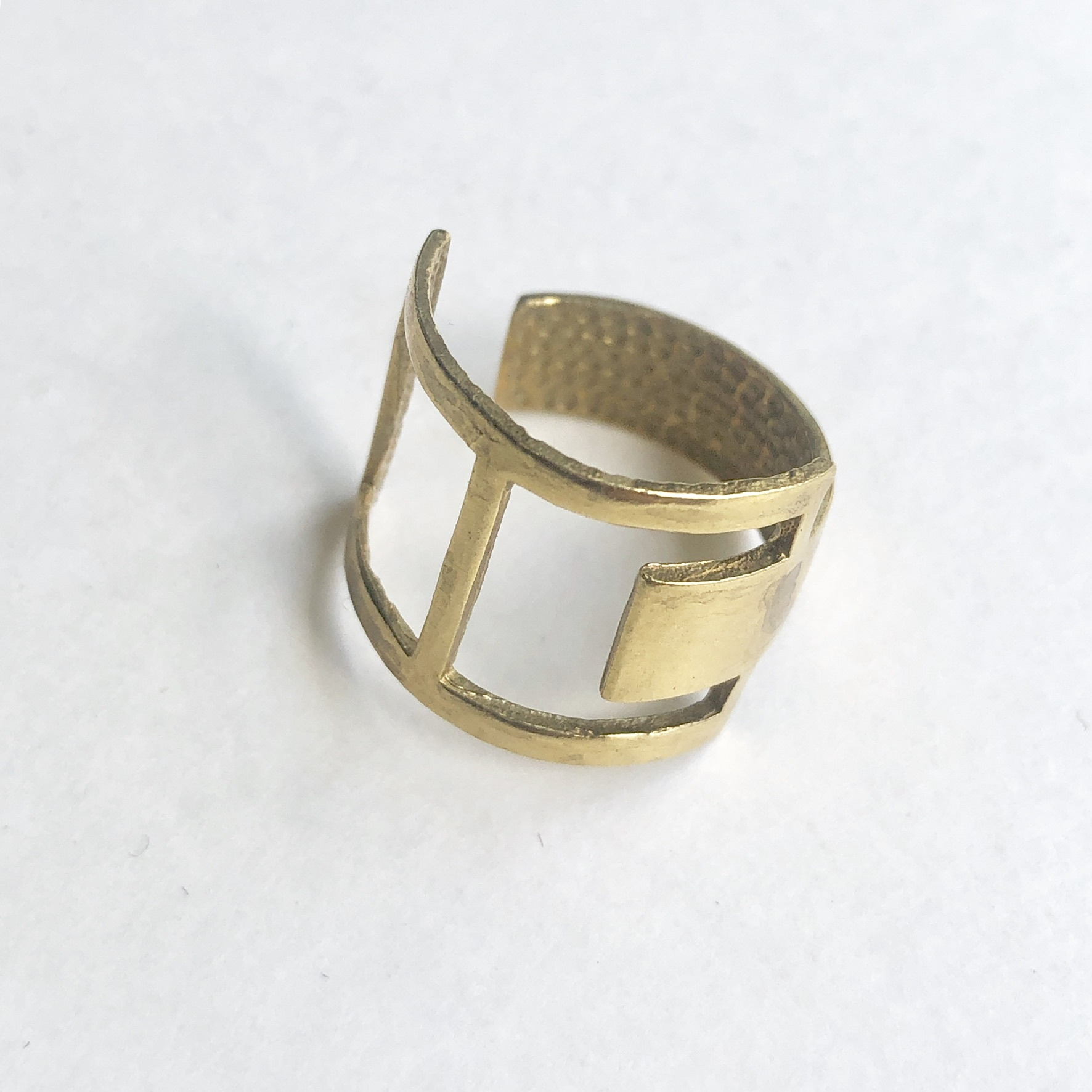Raw brass Rings -  Squares リング  RG-021