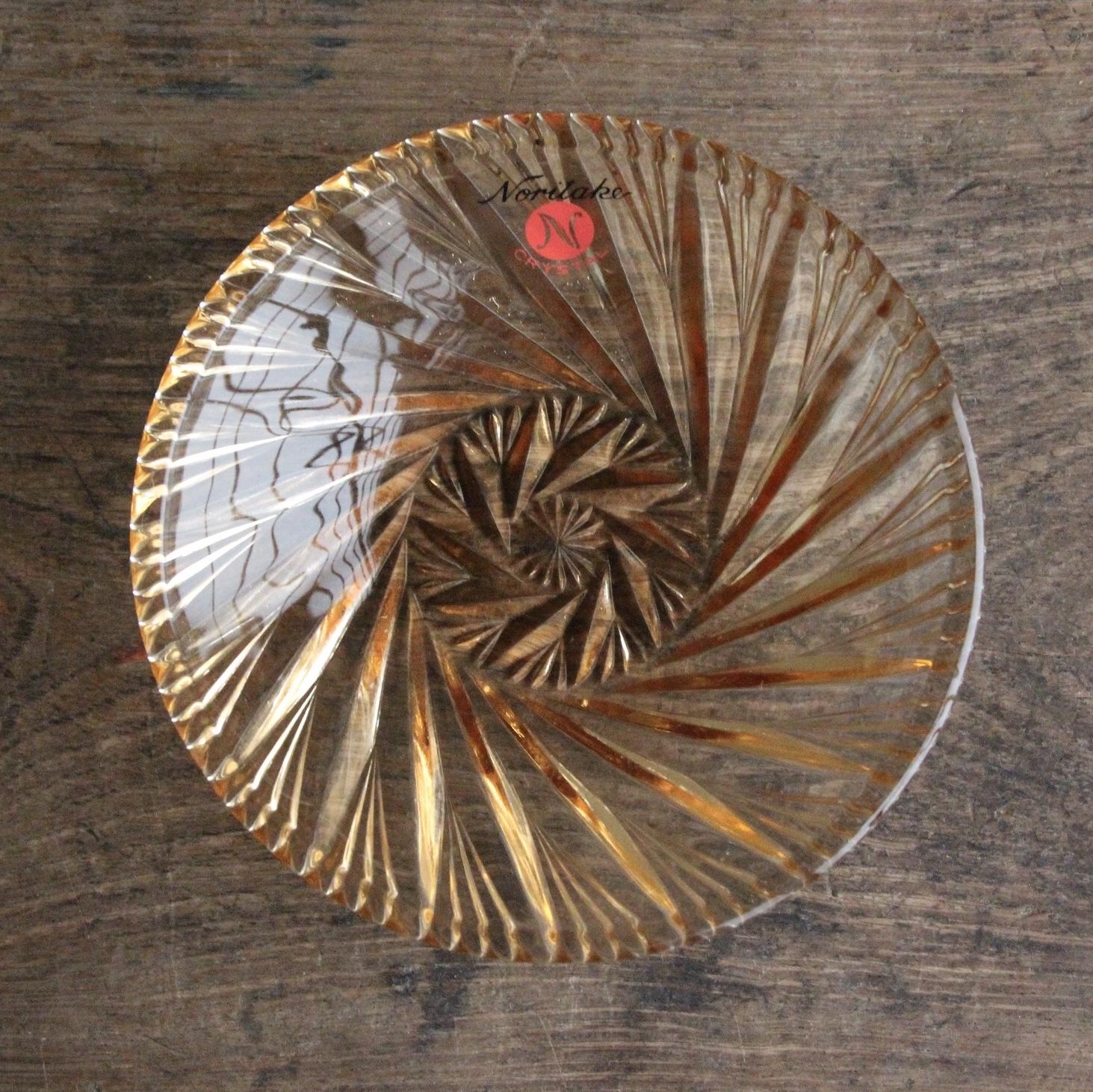 ノリタケ クリスタル 琥珀色 小皿 在庫1枚