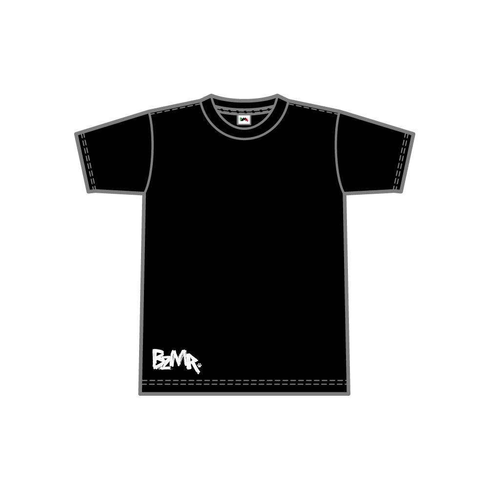 BZMR [Bottom print mono tee] Black. - 画像1